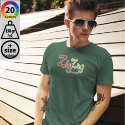 T-shirts - T-shirt homme ajusté en Jersey BIO col rond à personnaliser - 3,70€ - ZZ5-L03582 - zigzag-concept.lu - luxembourg