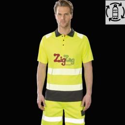 Polo de sécurité en polyester recyclé, frais et respirant à personnaliser