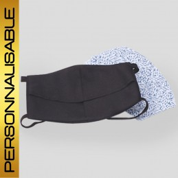 Masques - Masque Noir avec filtre amovible inclus à personnaliser logo/texte - 8,30€ - ZZ11_VP_PERS - zigzag-concept.lu - lu...