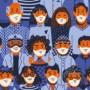 Masque en tissu fabriqué au Luxembourg